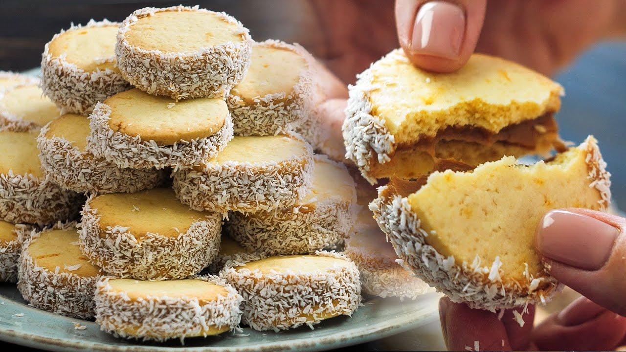 Восхитительное печенье АЛЬФАХОРЕС🍪 из ПРОСТЫХ продуктов👌 Тает во рту!😃 ВКУСНО с Лизой Глинской😉