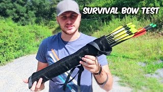 Compact Take-Down Survival Bow Test