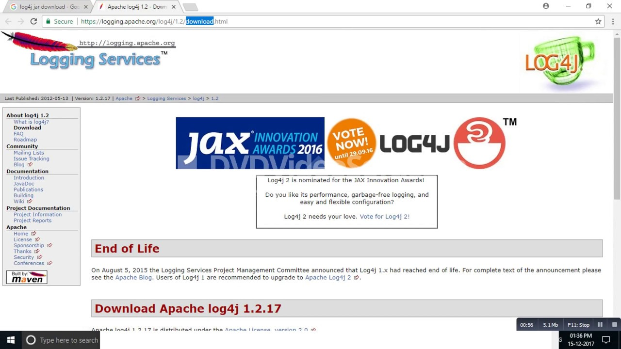 Steps to download log4j jar | selenium tutorials | toolsqa.