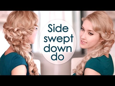 Half Up Half Down Hairstyle With Curls Prom Wedding Hair