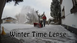 SNOW BLOWER Time Lapse in 4K by GoPro Hero 4