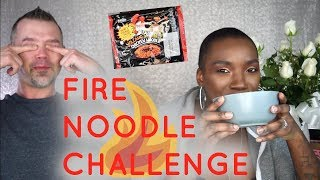 FIRE NOODLE CHALLENGE   WITH MY BF   BEAUTY BY KANDI