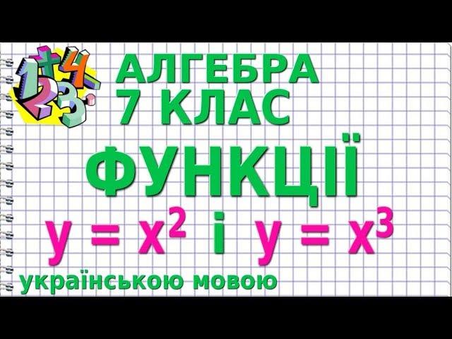 7 клас. Алгебра. ФУНКЦІЇ у = х^2 і у = х^3, ЇХ ВЛАСТИВОСТІ ТА ГРАФІКИ.
