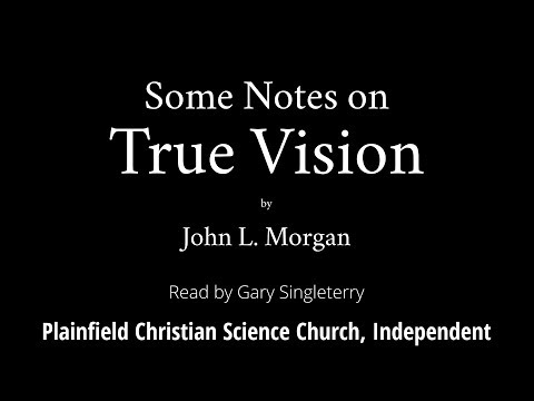 Some Notes on True Vision by John L  Morgan