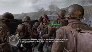 Call of Duty 2 American Single Player Part 5 D-Day Rush