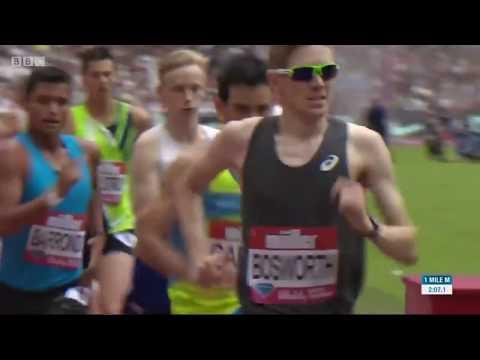 Tom Bosworth 1 mile world record 5.31.08 London Diamond League 2017