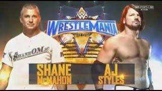 shane mcmahon vs aj styles wrestlemania 33 wr3d 17 by hhh simulation
