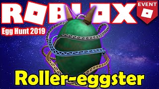How to get the Roller-eggster Egg - Theme Park: ROBLOX Point 2 - Roblox Egg Hunt 2019 GUIDE