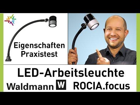 robuste LED Arbeitsleuchte Waldmann ROCIA focus - Test und Vorstellung der Flexschlauchleuchte