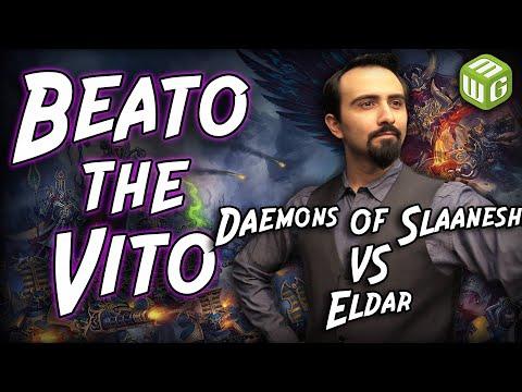 Daemons Of Slaanesh Vs Eldar Warhammer 40k Battle Report - Beato The Vito Ep 31