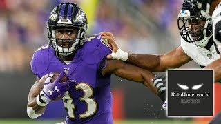Justice Hill still needs to be rostered in all fantasy football formats