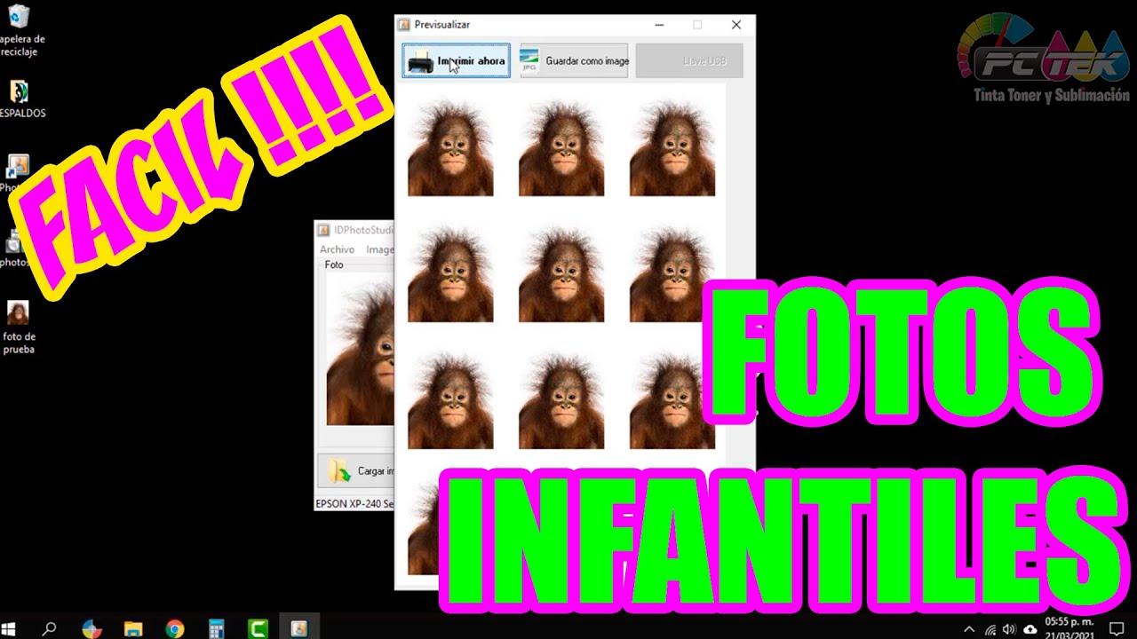 Como imprimir Fotos Infantiles Facil + programa!