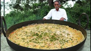 French Omelette Recipe | Big Omelette | Giant French Egg Omelette With Vegetables By Grandpa Kitchen