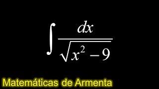 integracion por sustitucion trigonometrica ejemplo 17
