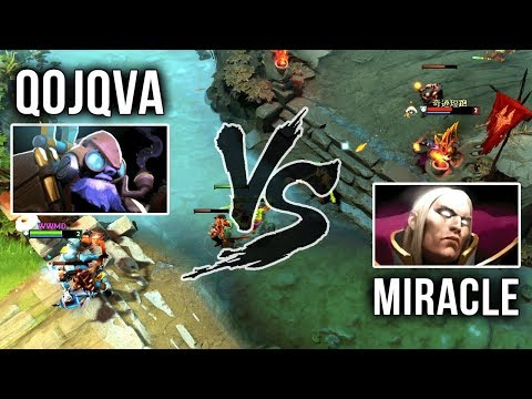 Miracle- Invoker vs qojqva Tinker Mid - M-GOD Back to His Signature Invoker - EPIC Gameplay Dota 2 thumbnail