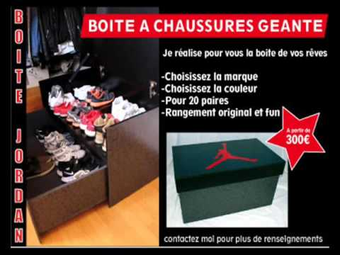 pub boite chaussures g ante c ma cr ation youtube. Black Bedroom Furniture Sets. Home Design Ideas