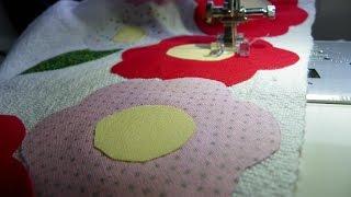 Como fazer kit pano de prato e centro de mesa patch aplique patchwork