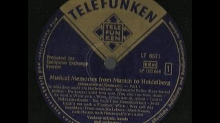 MUSICAL MEMORIES FROM MUNICH TO HEIDELBERG - MEMORIES OF GERMANY - side 1 of 2