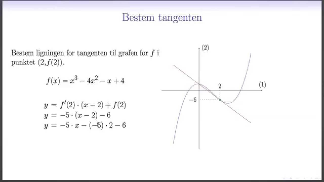 ligning for tangent