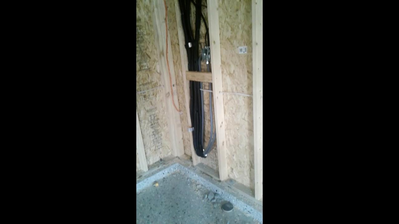 911kool 3 zone rough-in New construction installation 3 ton LG cassettes   Mini split 3 ton