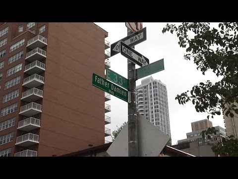 'Father Damien Way' street dedication in New York City