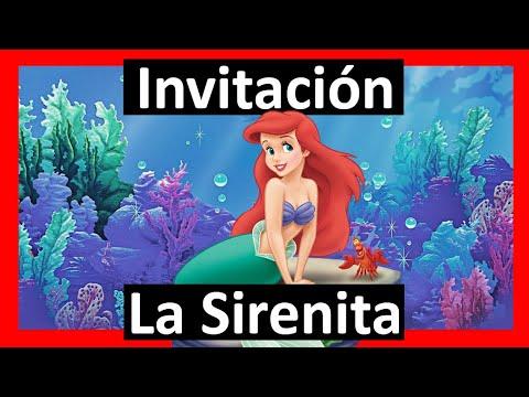 Video Invitación La Sirenita Whatsapp Digital