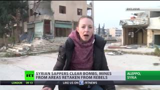 'Playing with death'  Rt talks to sappers working in recently liberated parts of Aleppo