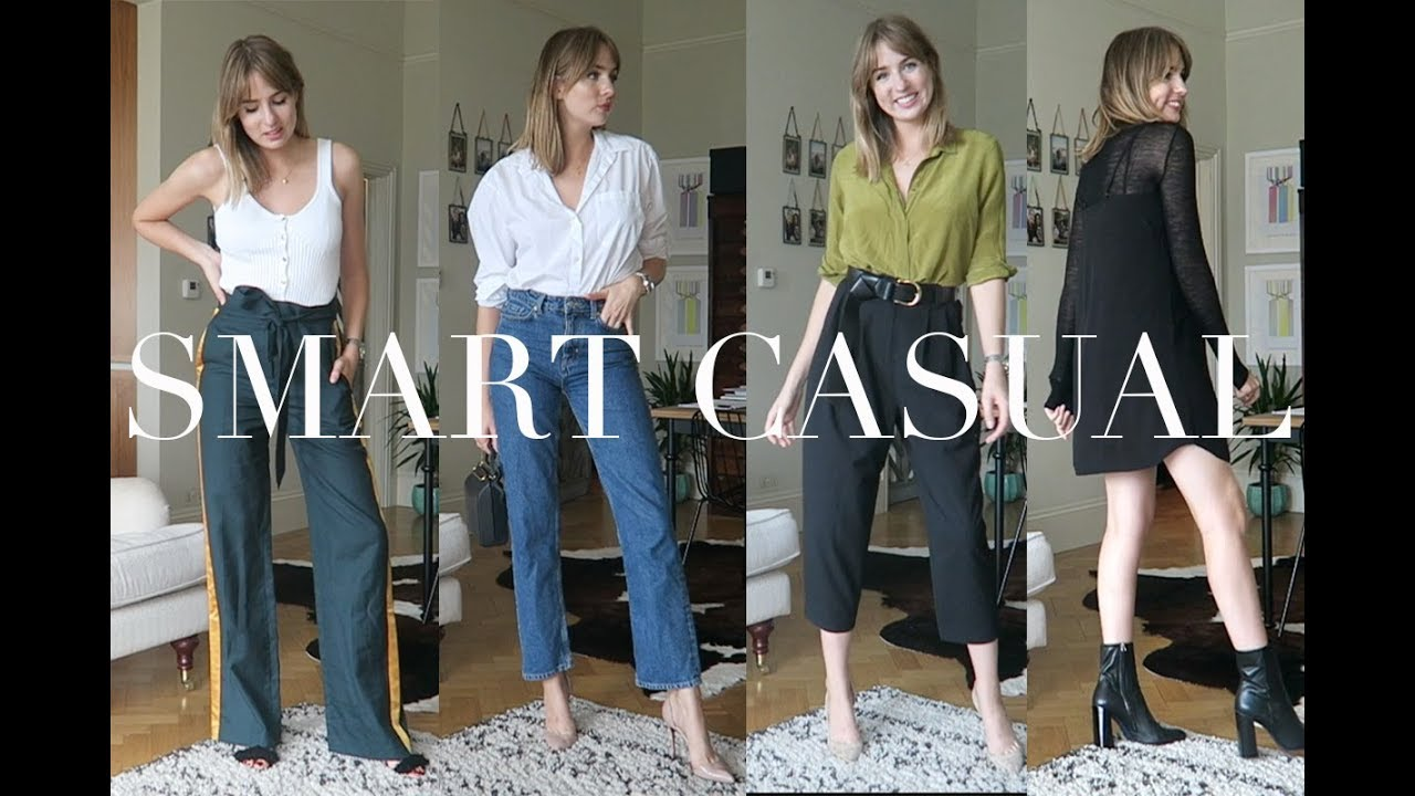 outfit ideas for a smart casual dress code youtube