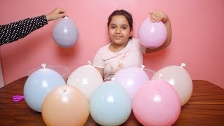تحدي التلوين ب 3 الوان سلايم البلونات !! مقلبناها !  3 COLORS OF GLUE SLIME BALLONS CHALLENGE!!