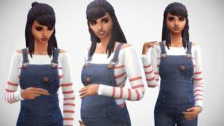 The Sims 4: Create a Sim // PREGNANT TEEN MOM + CC LINKS