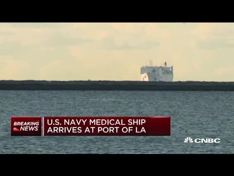 U.S. Navy Medical Ship Arrives In The Port Of Los Angeles