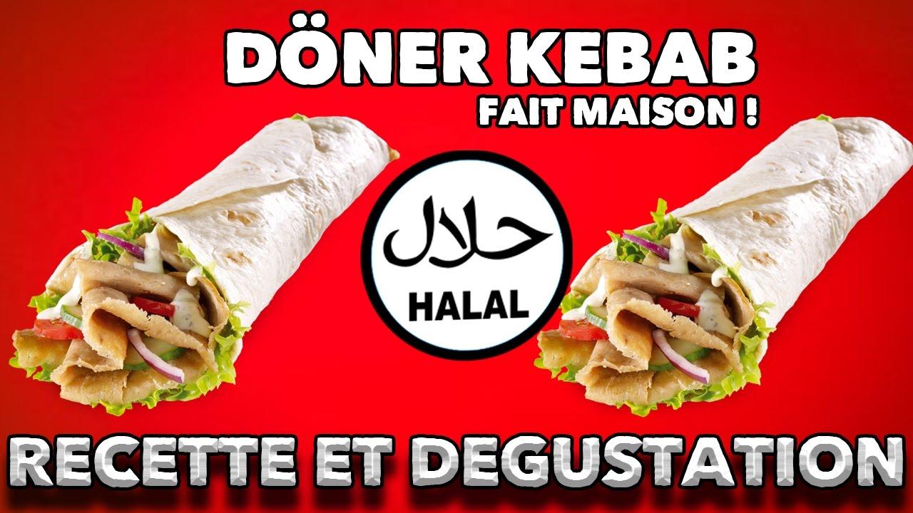 DÉGUSTATION : Recette Doner Kebab (Grec) fait maison - YouTube