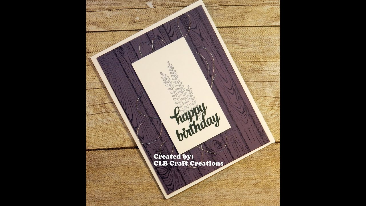2016 Stampin Up SAB Flowering Fields Birthday Card