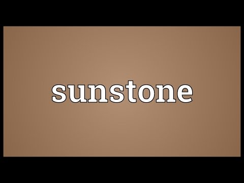Sunstone Meaning