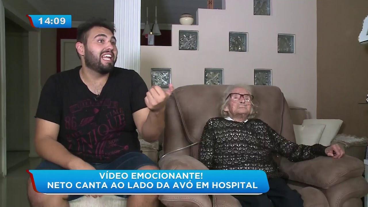 Avos Brasileiros Porn Videos neto canta para avó em hospital e vídeo viraliza na internet