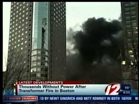 Fire forces power outage in Boston