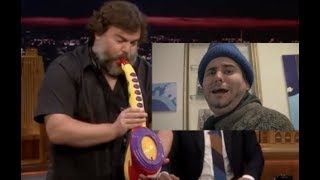Jack Black Playing His Sax-A-Boom But It's Ethan Coughing