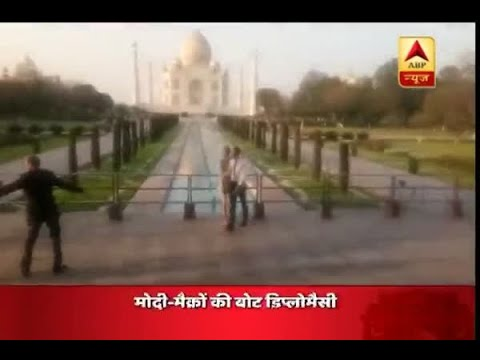 French President Emmanuel Macron visits Taj Mahal with wife Brigitte