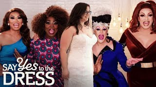 🔴Bride Gets Fabulous Makeover From Drag Queens! | Drag Me Down The Aisle