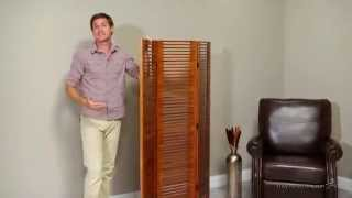 Hikari Slatted Room Divider - Light Walnut - Product Review Video