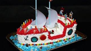 Торт Корабль. Пошаговый рецепт. Сборка торта. Торт для детей. Моя Dolce vita