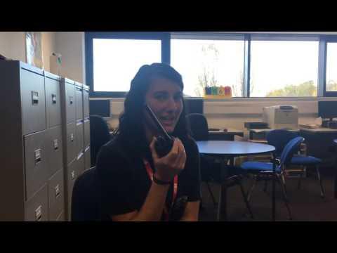 Sending radio check - Poppy Holmes Receiving radio check - Ellie Thorneycroft