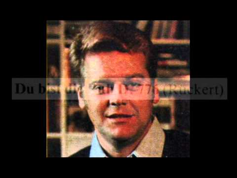 Schubert / Hermann Prey, 1960s: Du bist die Ruh, D. 776 - Leonard Hokanson, piano - Lyrics