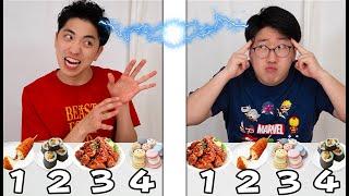 韓国料理食べる順番一致するまで終われません!【大食い2人】