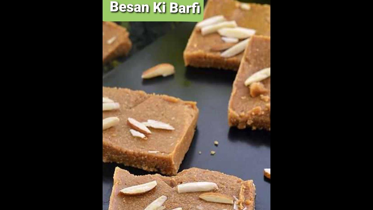 Besan Jaggery Barfi  How to make Besan Barfi  shetty'spassion