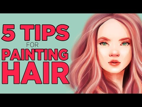 How to draw realistic hair digital art