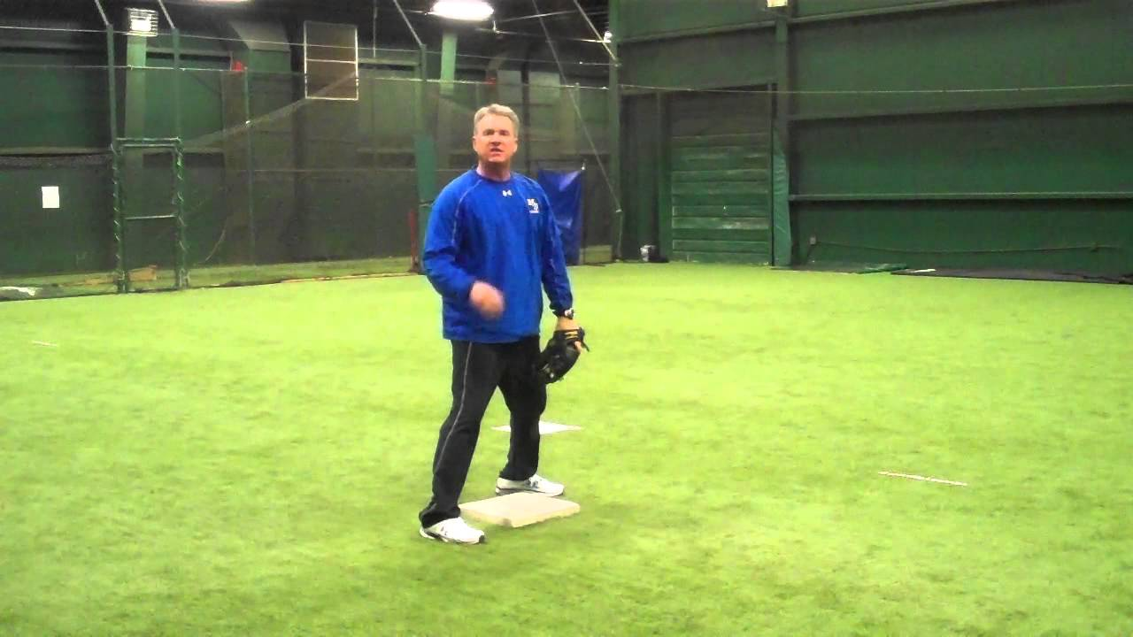 2nd Base Tag play Throw from outfield - YouTube