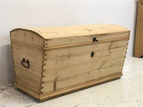 Lovely 19th Century Pine Linen & Blanket Chest - Pinefinders Old Pine Furniture Warehouse