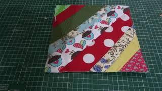 Reaproveitamento de retalhos 2 – colcha da vovó bloco no papel