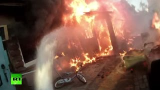 You vs. blaze: Get into the epicenter of heroic firefighting action (POV action cam video)
